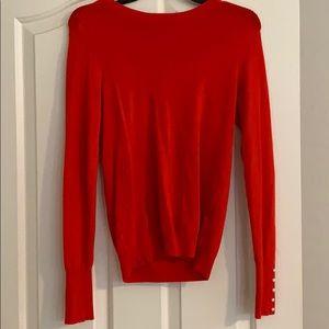 Zara red embellished sweater